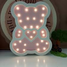 nachtlicht für kinderzimmer holz bär nachtlicht baby schlafen led nachtlicht