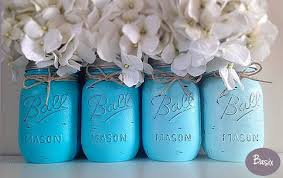 blue ombre party nursery decor boy shower centerpieces and