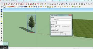 how to use faceme tree components in sketchup tonytextures com