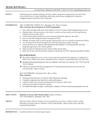Sample Senior Management Resume Sample Sales Resume