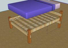 Wooden Platform Bed Frame Plans by Cheap Easy Low Waste Platform Bed Plans Platform Beds