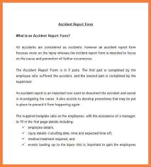 accident incident report employee accident incident report form