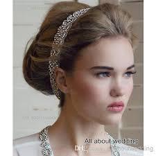 prom hair accessories braid rhinestone bridal headband bridal accessory two row
