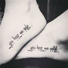 our best tattoos the bottom is morse code for bff stuff