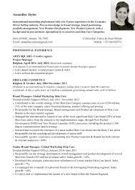 Comprehensive Resume Format Amandine Taylor Cv