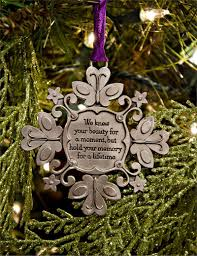 snowflake ornament to remember miscarriage or child loss blue