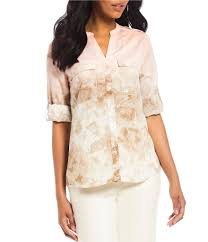 ombre blouse calvin klein s casual dressy tops blouses dillards
