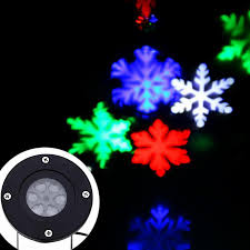 Led Snowflake Lights Outdoor by Christmas Snowflakes Led Stage Lights Holiday White Snow Sparkling