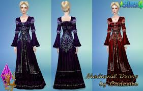 my sims 4 blog medieval dresses by ladesire
