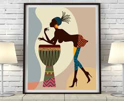 Black Art Home Decor Fascinating African American Black Art Prints Black Women Art