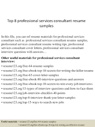 Consulting Resume Example by Top 8 Professional Services Consultant Resume Samples 1 638 Jpg Cb U003d1434159411