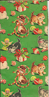cat christmas wrapping paper kitten christmas wrapping paper festival collections
