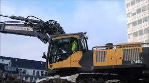 volvo site excavator volvo ec 360 last day at this site youtube