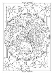 free coloring page coloring art nouveau style peacock