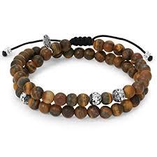 mens bracelet beads images Mens bracelet 2 layer bracelet with brown nature jpg