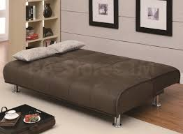 375 82 transitional styled sofa sleeper futon bed in brown