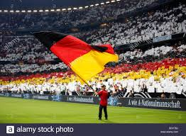 The Germany Flag German Flag In Front Of The Stadium Overview During The Soccer