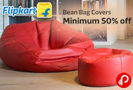 minimum 50 off on bean bag covers flipkart