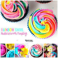 rainbow swirl buttercream frosting the bewitchin u0027 kitchen