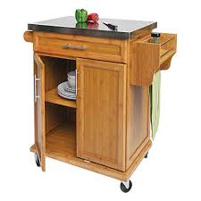 stainless steel top kitchen cart small bamboo stainless steel top kitchen cart in home decorating