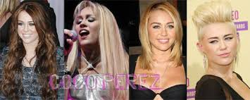 hairstyles through the years miley cyrus her hairstyle evolution through the years