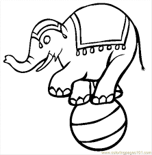 circus elephant coloring free elephant coloring pages