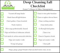 House Cleaning Estimate Form by Fall House Cleaning Checklist C S Home Office Management