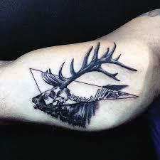 cool bicep mens deer antler tattoo design cool deer tattoos