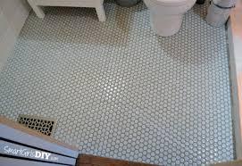 guest bathroom 7 diy hex tile floor