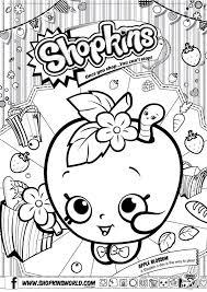 shopkins coloring pages season 1 apple blossom princess