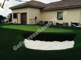Backyard Putting Green Installation by Artificial Grass Putting Green Florida Office Putting Green