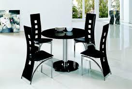 Black Round Kitchen Table Round Dining Table Black Glass Starrkingschool