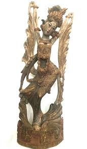 unknown balinese wood sculpture of a dancer wood sculpture for