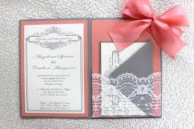 coral wedding invitations 34 silver and coral wedding invitations vizio wedding