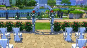 wedding arches sims 4 sims 4 family moments sims 4 community lot newcrest botanical
