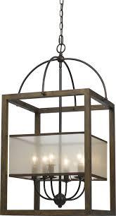 Foyer Light Fixture Cal Fx 3536 6l Mission Wood Foyer Light Fixture Cal Fx 3536 6l