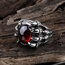 style steel rings images New punk style ruby stainless steel rings jpg