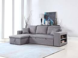 lolet canapé canapé d angle convertible et réversible allen luxe gris