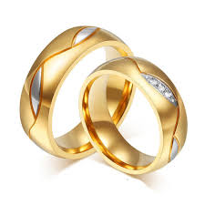 gold wedding rings for gold engagement ring titanium steel 8 95 demo