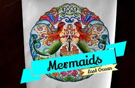 lost ocean coloring book mermaids oceano perdido