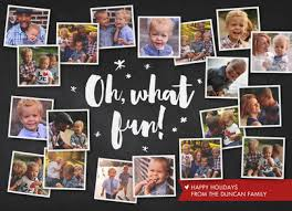 oh what fun photo collage christmas card cardstore