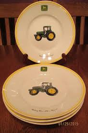 set of four gibson john deere farm tractor plates