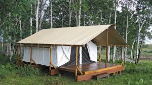 tent platform platform tent with extended fly colorado yurt company