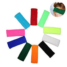 sweatbands for 10 multipack of headband sweatbands by kurtzy sports sweat bands