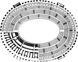 plan colosseum flavian amphitheater rome italy imperial