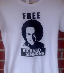 free richard simmons t shirt sweatin to the oldies work out