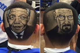 hair raising artworks of a barber mirror online