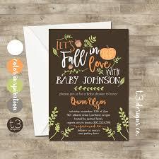 fall baby shower invitation or boy baby shower invite baby