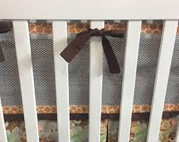 breathable crib bumper etsy