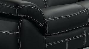 couture canape cuir canapac 3 places en cuir noir polo comment